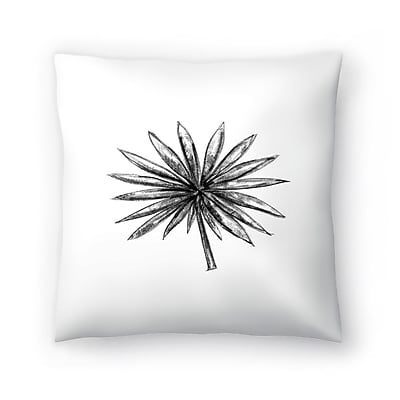 East Urban Home Jetty Printables Palm Branches Throw Pillow; 20'' x 20''