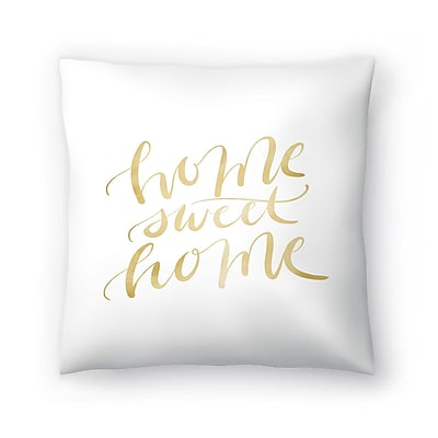 East Urban Home Jetty Printables Home Sweet Home Typography Throw Pillow; 18'' x 18''