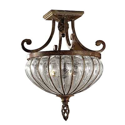 Fleur De Lis Living Lorie 2-Light Semi Flush Mount