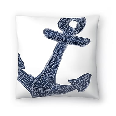 East Urban Home Jetty Printables Tribal Anchor Wall Art Throw Pillow; 18'' x 18''