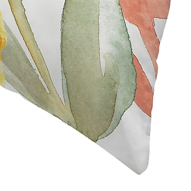 East Urban Home Jetty Printables Hello Autumn Botanical Throw Pillow; 14'' x 14''