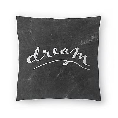 East Urban Home Jetty Printables Chalkboard Dream Typography Throw Pillow; 20'' x 20''