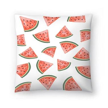 East Urban Home Jetty Printables Watermelon Throw Pillow; 18'' x 18''