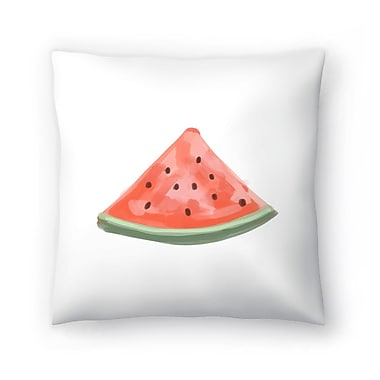 East Urban Home Jetty Printables Watermelon Slice Throw Pillow; 16'' x 16''