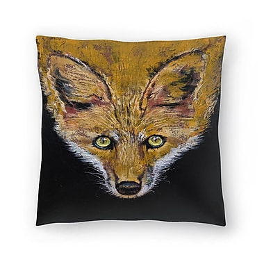 East Urban Home Michael Creese Clever Fox Throw Pillow; 14'' x 14''