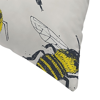 East Urban Home Tracie Andrews Bees Throw Pillow; 18'' x 18''