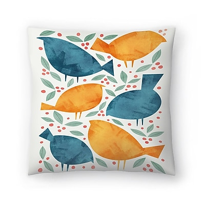 East Urban Home Tracie Andrews Birds Throw Pillow; 16'' x 16''