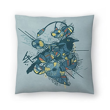 East Urban Home Tracie Andrews Bird Throw Pillow; 14'' x 14''