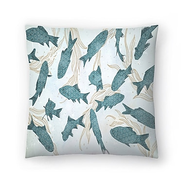 East Urban Home Tracie Andrews Fish Throw Pillow; 18'' x 18''