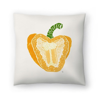 East Urban Home Tracie Andrews Pepper Throw Pillow; 16'' x 16''
