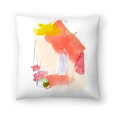 East Urban Home Olimpia Piccoli Dreamsicle Throw Pillow; 14'' x 14''