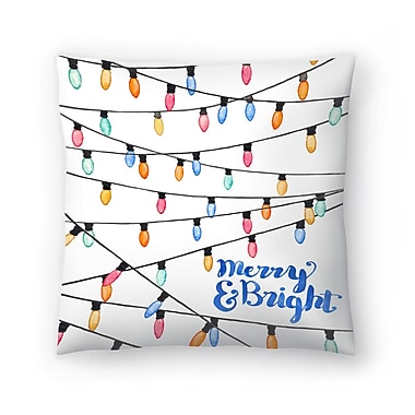 East Urban Home Elena O'Neill Merry and Bright Throw Pillow; 14'' x 14''