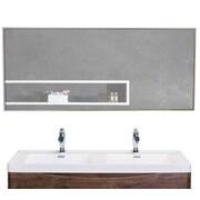 Eviva Sax Bathroom Wall Mirror; 20'' H x 47'' W x 1.24'' D