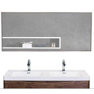 Eviva Sax Bathroom Wall Mirror; 20'' H x 57'' W x 1.24'' D