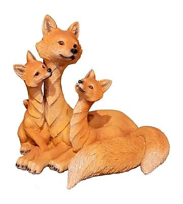 Loon Peak Jaqueline Modern Fox Family Brown Figurine