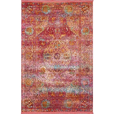 Mistana Regina Red Area Rug; Rectangle 5'5'' x 8'