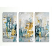 George Oliver 'City Views II' Acrylic Painting Print Multi-Piece Image on Wrapped Canvas