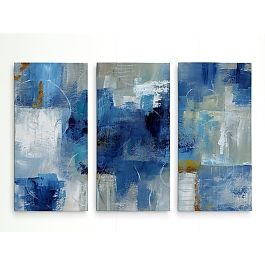 George Oliver 'Blue Morning' Acrylic Painting Print Multi-Piece Image on Wrapped Canvas