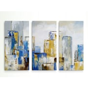 George Oliver 'City Blues I' Acrylic Painting Print Multi-Piece Image on Wrapped Canvas