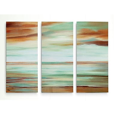 Highland Dunes 'Endless Sky' Acrylic Painting Print Multi-Piece Image on Wrapped Canvas