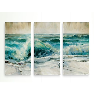Highland Dunes 'Water Music' Acrylic Painting Print Multi-Piece Image on Wrapped Canvas