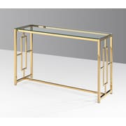 Ivy Bronx Gannon Console Table; Gold