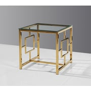 Ivy Bronx Gantt End Table; Gold