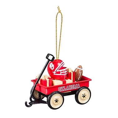 Evergreen Enterprises, Inc University of Oklahoma Team Wagon Ornament Hanging Figurine
