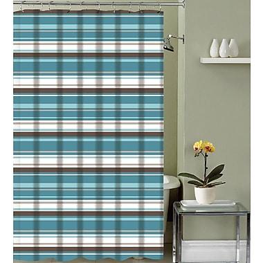 Latitude Run Izquierdo Classic Stripe Fabric Shower Curtain