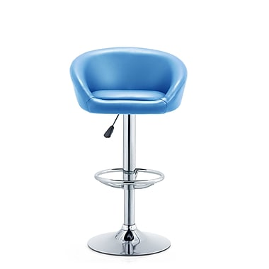Orren Ellis Latania Adjustable Height Swivel Bar Stool; Turquoise