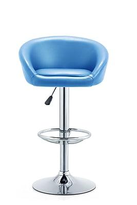 Orren Ellis Latania Adjustable Height Swivel Bar Stool; Turquoise