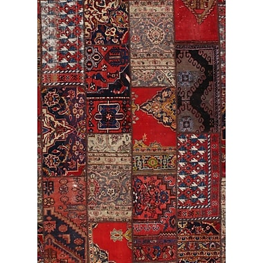 Pasargad NY Persian Hand-Knotted Wool Red Area Rug