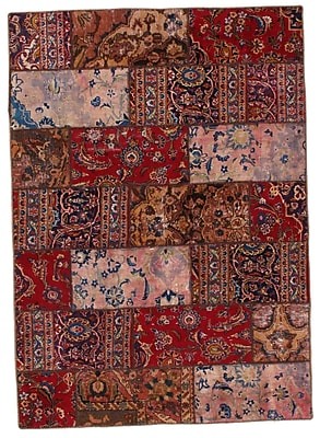 Pasargad NY Persian Hand Knotted Wool Red/Brown Area Rug