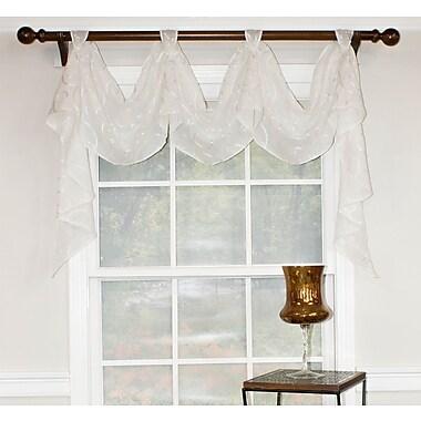 Red Barrel Studio Katrice 54'' Curtain Window Valance; Snow Flake
