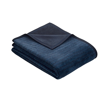 Red Barrel Studio Zack Zipper Throw; Navy/Royal