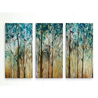 Red Barrel Studio 'Sunlit Birch Grove' Acrylic Painting Print Multi-Piece Image on Wrapped Canvas