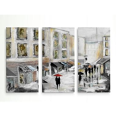 Red Barrel Studio 'Sunday Market' Acrylic Painting Print Multi-Piece Image on Wrapped Canvas