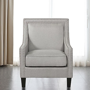 Red Barrel Studio Lyn Solid Wood Armchair; Gray