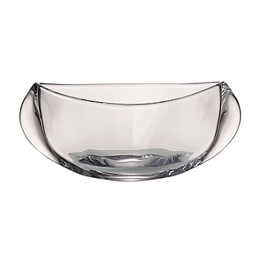 Red Vanilla Orbit Decorative Bowl; 5'' H x 12'' W x 4'' D