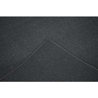 Orren Ellis Aly Black Solid Area Rug; Rectangle 4' x 6'