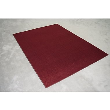 Orren Ellis Leigh-Anne Burgundy Solid Area Rug; Rectangle 2' x 3'