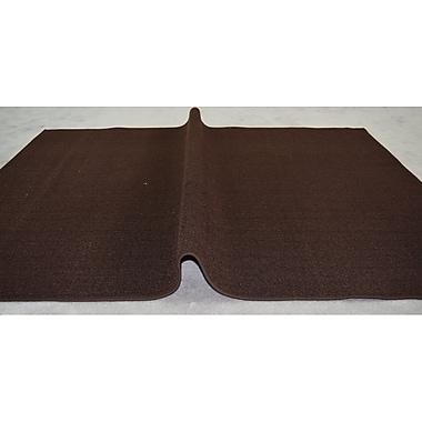 Orren Ellis Jann Brown Solid Area Rug; Rectangle 5'3'' x 7'2''
