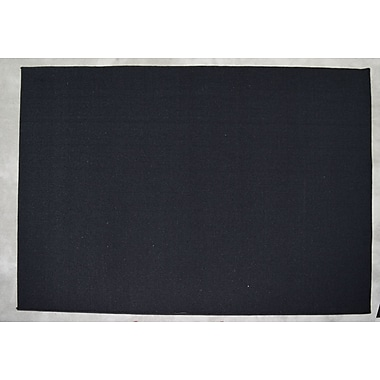Orren Ellis Shulin Black Area Rug; Rectangle 4' x 6'