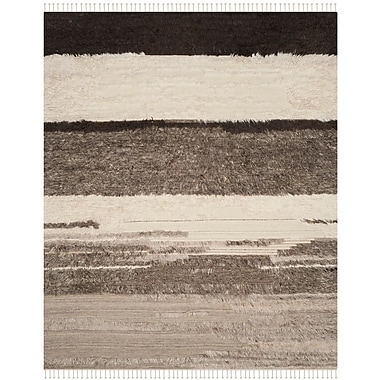 Union Rustic Xue Hand Knotted Wool Ivory Area Rug; 9' x 12'