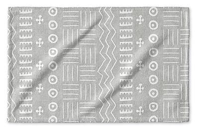 Union Rustic Dalton Geometric Cloth Hand Towel; Gray