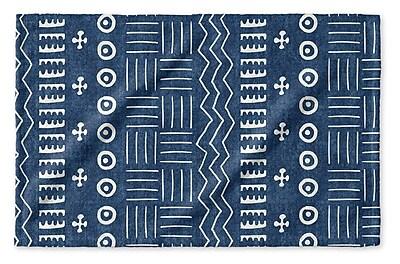Union Rustic Dalton Geometric Cloth Hand Towel; Indigo