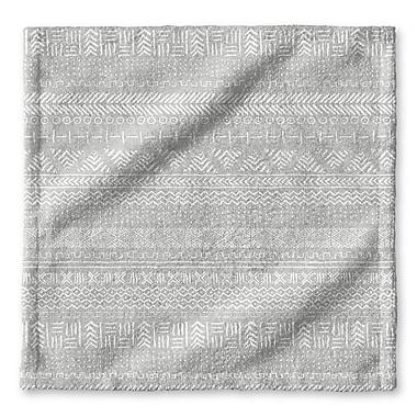 Union Rustic Dalton Cloth Washcloth w/ Single Sided Print; Gray