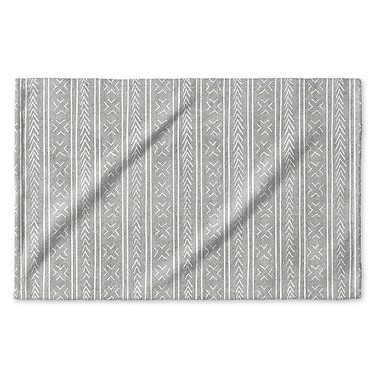 Union Rustic Dalton Geometric Cloth Hand Towel w/ Single Sided Print; Gray