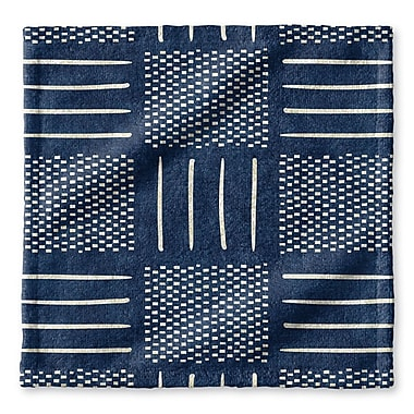 Union Rustic Dalton Symmetry Cloth Washcloth w/ Single Sided Print; Indigo
