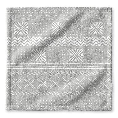 Union Rustic Dalton Symmetry Geometric Cloth Washcloth; Gray